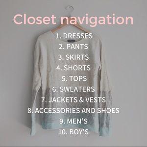 Closet Navigation